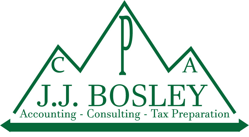 a logo for J. J. Bosley, CPA